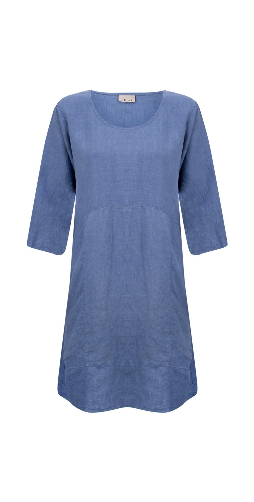 Mira Seamed Linen Tunic main image