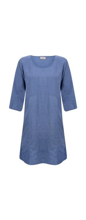 Thing Mira Seamed Linen Tunic Sapphire