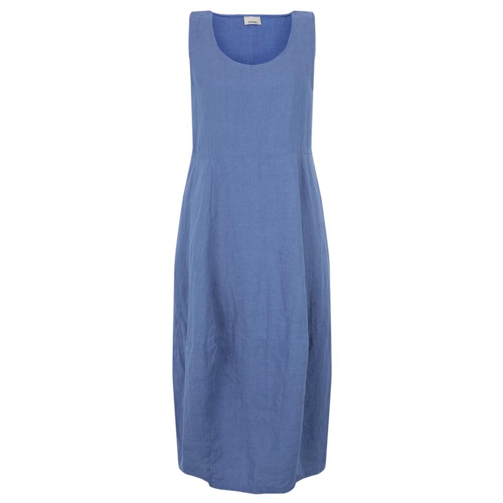 Thing Freya Linen Dress Sapphire
