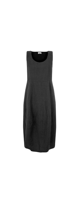 Thing Freya Linen Dress Black