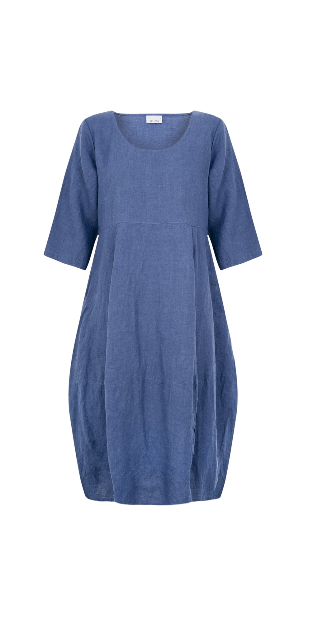 Freya 3/4 Sleeve Linen Dress main image