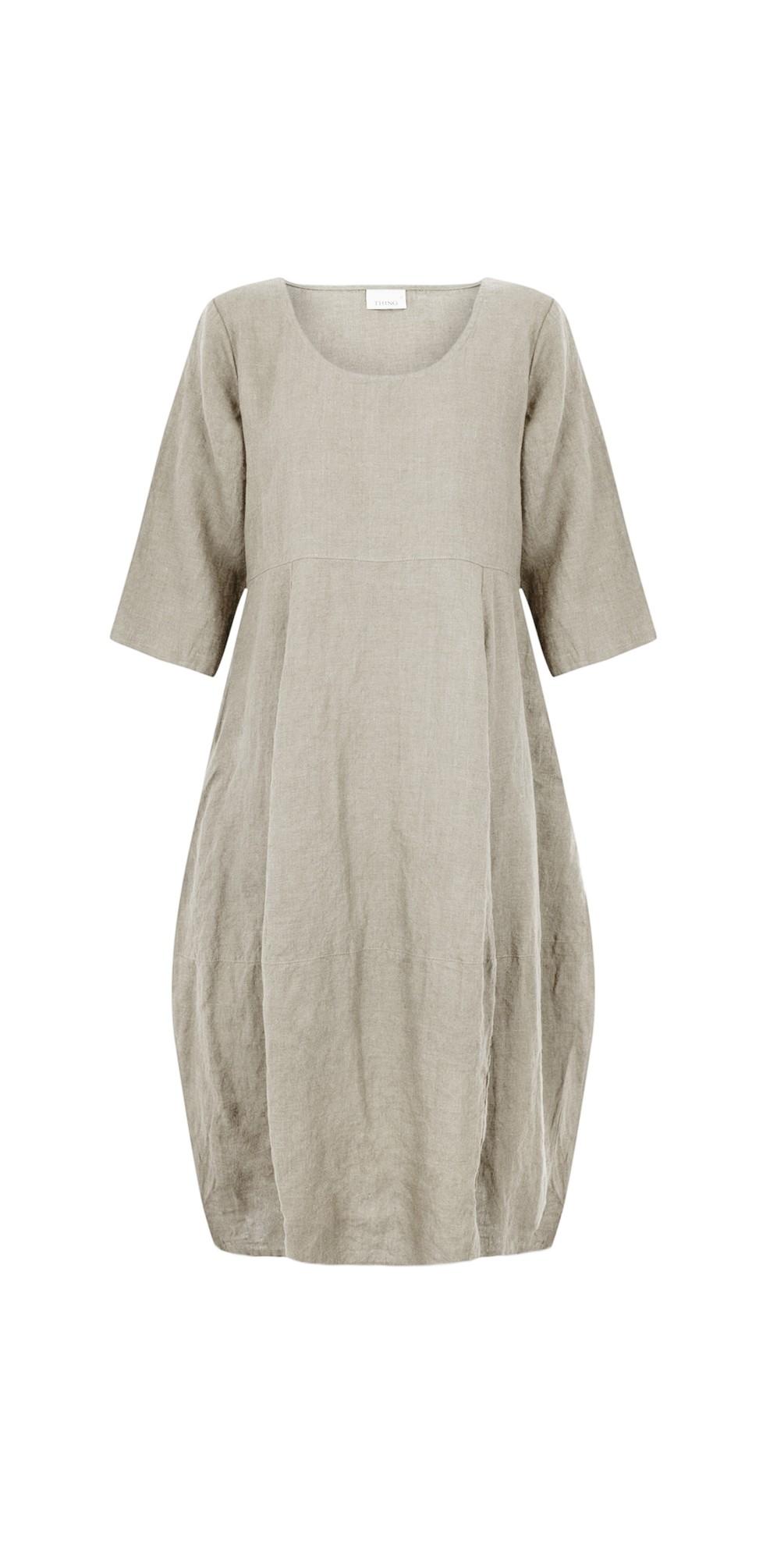Freya 3/4 Sleeve Linen Dress main image