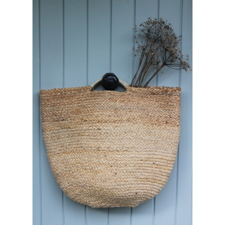 Chalk Home Jute Small Shopper  - Beige
