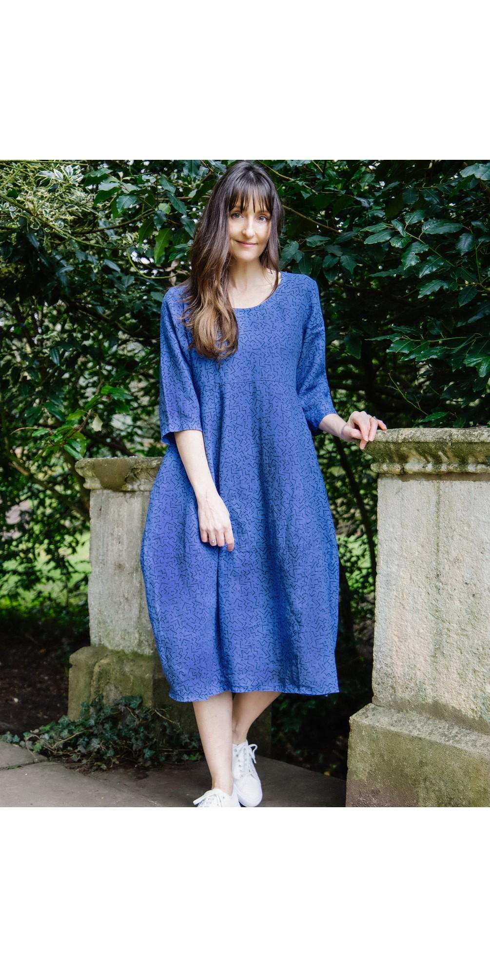 Freya Linen Print Dress main image