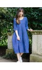 Thing Sapphire Freya Linen Print Dress