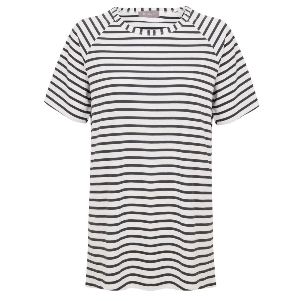 Chalk Darcey Stripe Top Black / White