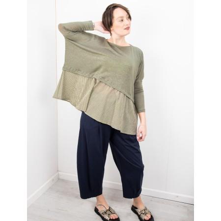 Mama B Fusto L Linen Jumper - Green