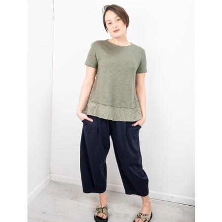 Mama B Ally Linen Layered Top - Green