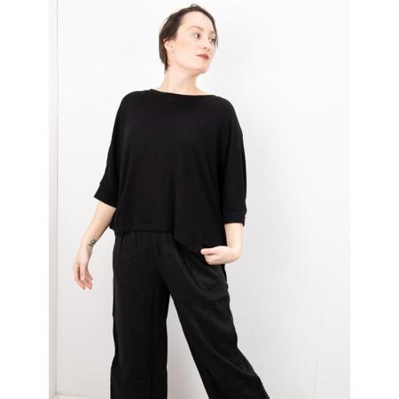 Mama B Lago L Fine Linen Jumper - Black
