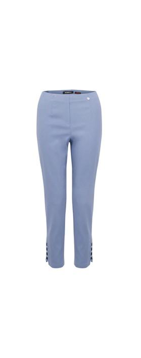Robell Lena Denim Blue Ankle Detail Cropped Trouser Denim Blue 62