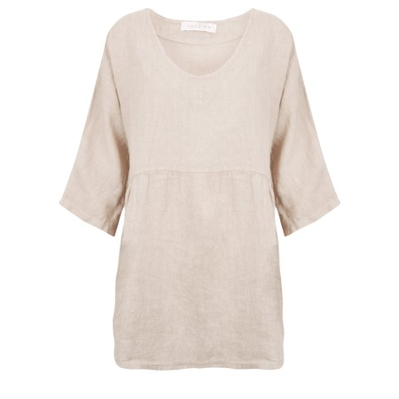 Amazing Woman Tesa V Neck Top - Beige