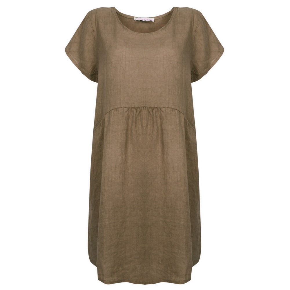 Amazing Woman Lexia Linen Dress  Fango
