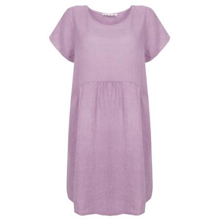 Amazing Woman Lexia Linen Dress  - Purple