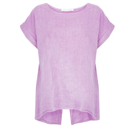 Amazing Woman Melia Short Sleeve Linen Top - Purple