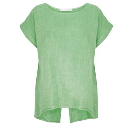 Amazing Woman Melia Short Sleeve Linen Top - Green