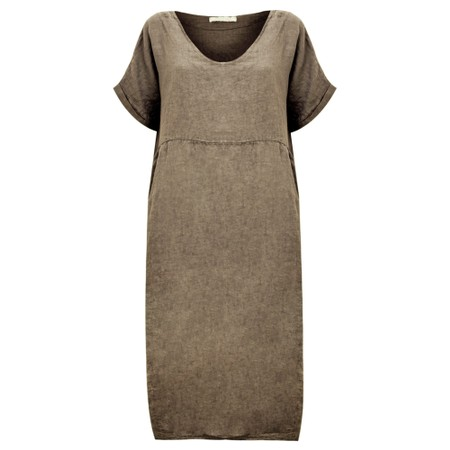 Amazing Woman Tesa Midi Linen dress  - Brown