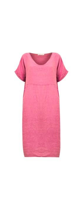 Amazing Woman Tesa Midi Linen dress  Pink Confetti