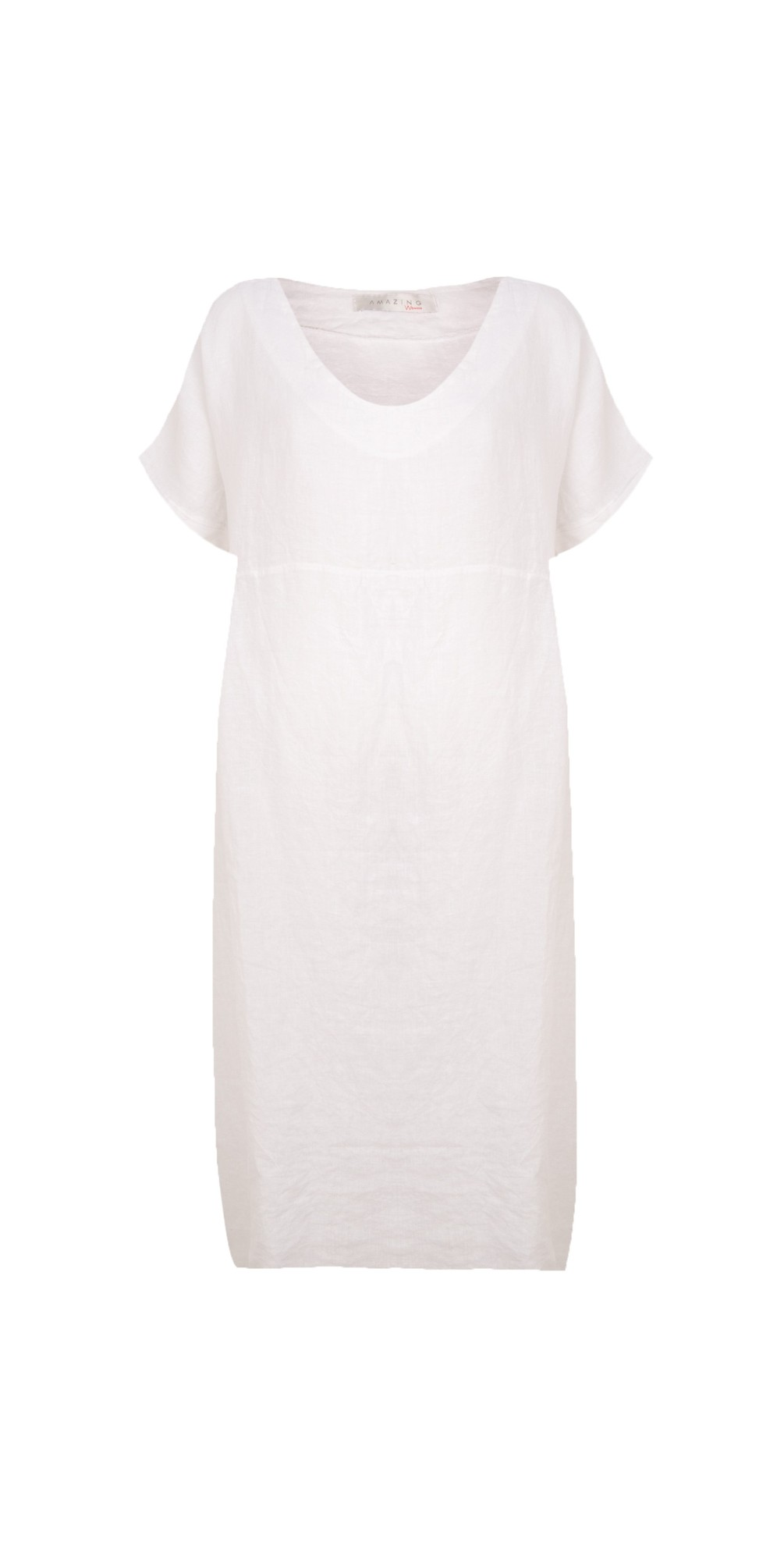 Tesa Midi White Linen dress main image