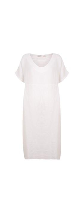 Amazing Woman Tesa Midi White Linen dress White
