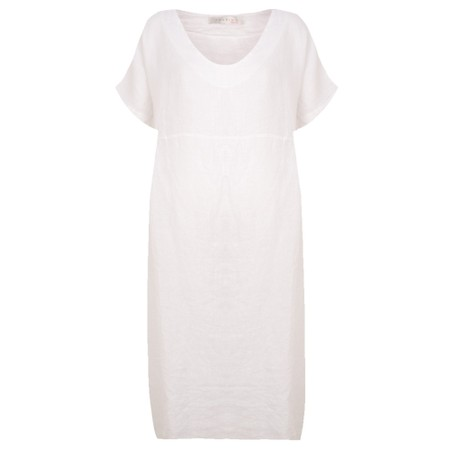 Amazing Woman Tesa Midi Linen dress  - White