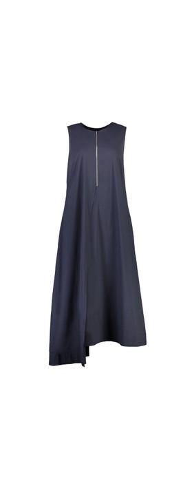 Foil Swede Sensations Trapeze Dress True Navy