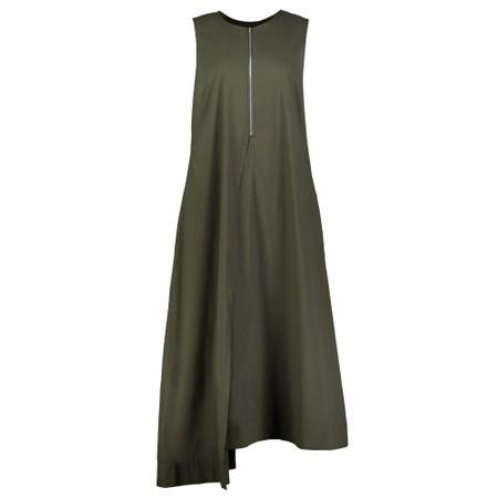 Foil Swede Sensations Trapeze Dress - Green