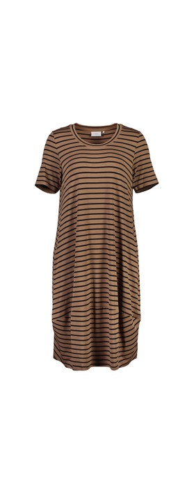 Foil Subtle Statements Bubble Dress Cinnamon Stripe