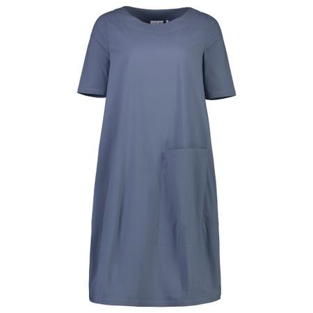Foil Deep Pockets Cocoon Hem Dress - Beige