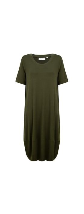 Foil Subtle Statements Bubble Dress Olive