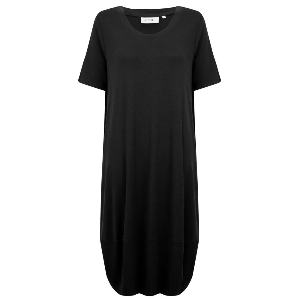 Foil Subtle Statements Bubble Dress Black