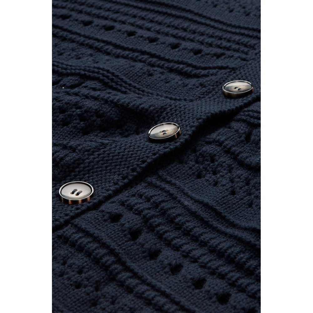 Masai Clothing Laurina Cotton Cardigan Navy