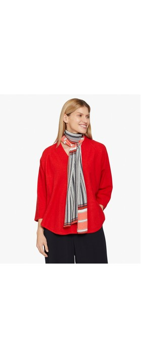 Masai Clothing Along Stripe Scarf Valient Poppy