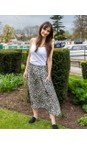 Amazing Woman Charcoal / Khaki Santa Midi Skirt