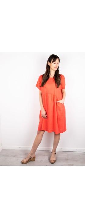 Amazing Woman Lexia Linen Dress  Coral