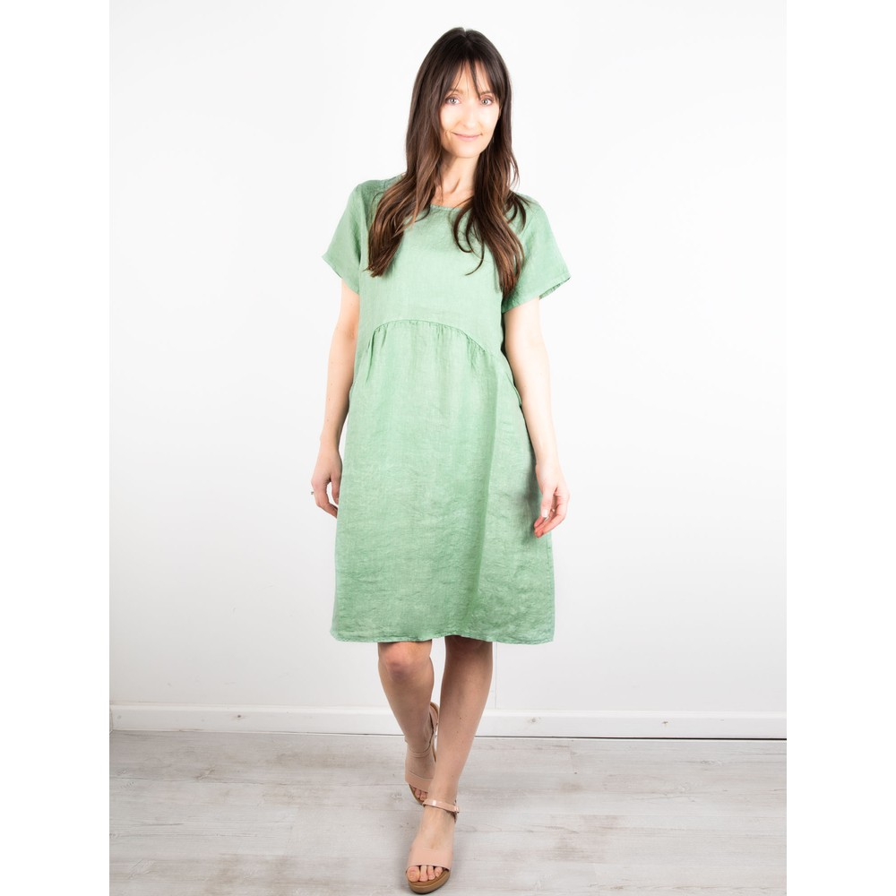 Amazing Woman Lexia Linen Dress  Avocado