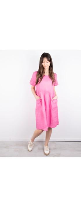 Amazing Woman Lexia Linen Dress  Pink Confetti