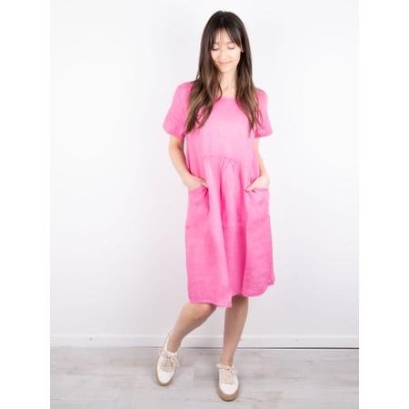 Amazing Woman Lexia Linen Dress  - Pink