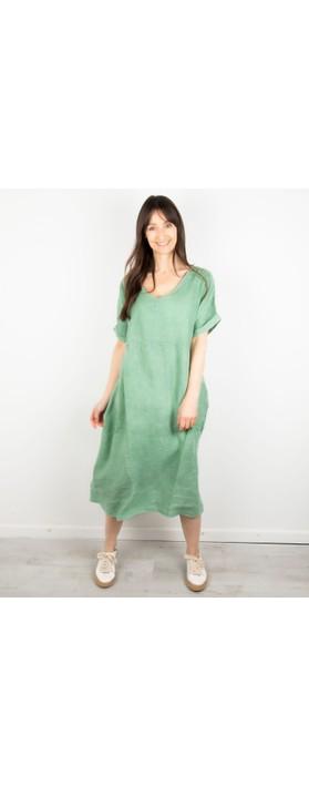 Amazing Woman Tesa Midi Linen dress  Avocado