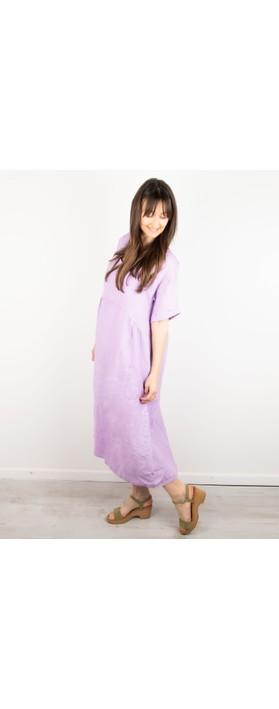 Amazing Woman Tesa Midi Linen dress  Lilac
