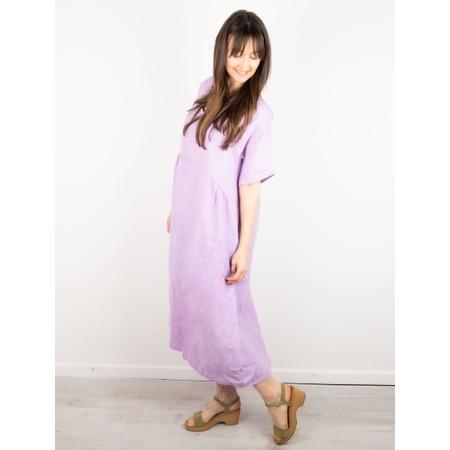 Amazing Woman Tesa Midi Linen dress  - Purple