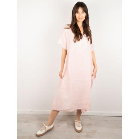 Amazing Woman Tesa Midi Rose Linen dress - Pink