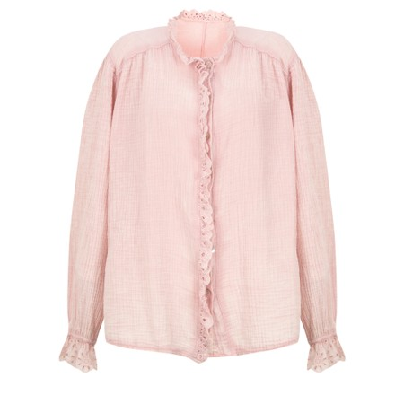 TOC Sienna Broderie Anglaise Trim Shirt - Pink
