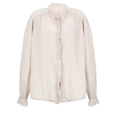 TOC Sienna Broderie Anglaise Trim Shirt - Grey