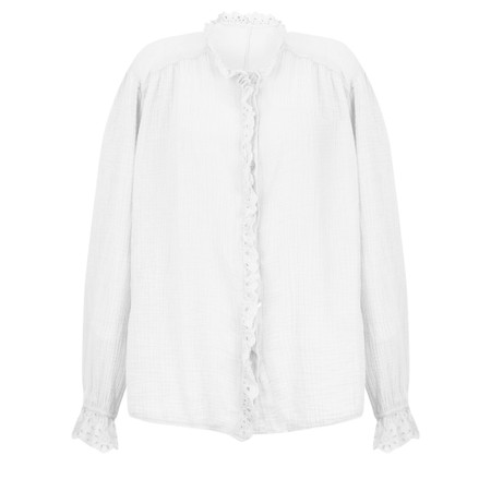 TOC Sienna Broderie Anglaise Trim Shirt - White
