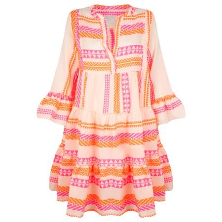 TOC Ella Greek Style Tunic Dress - Orange