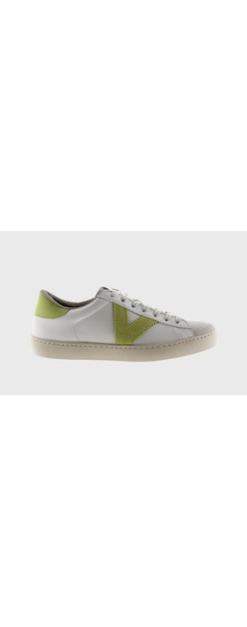 Victoria Shoes Berlin Classic Victoria V Leather Trainer Lime
