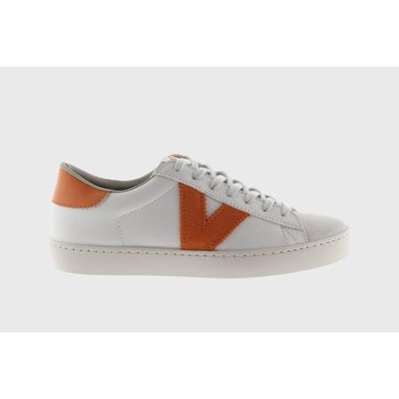 Victoria Shoes Berlin Classic Victoria V Leather Trainer - Orange