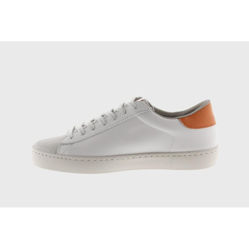 Victoria Shoes Berlin Classic Victoria V Leather Trainer Naranja Orange