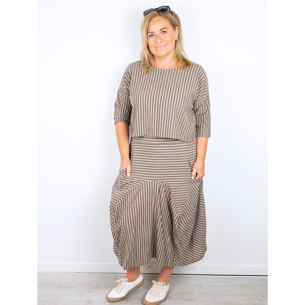 Thing Sara Stripe Skirt Sand