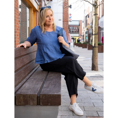 Thing Updown Linen Top - Blue